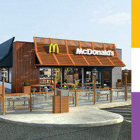 3d 3ds mcdonalds fast food restaurant