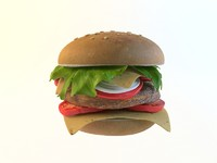 3d hamburger model