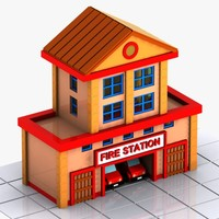 station s cartoon 3d model