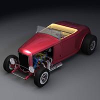 highboy roadster interior 3d obj