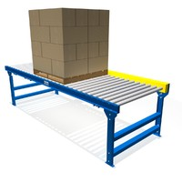 3d model chain driven live roller conveyor