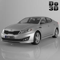 kia optima 2013 3d model