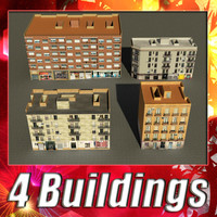 building 97-100 collections 3d 3ds