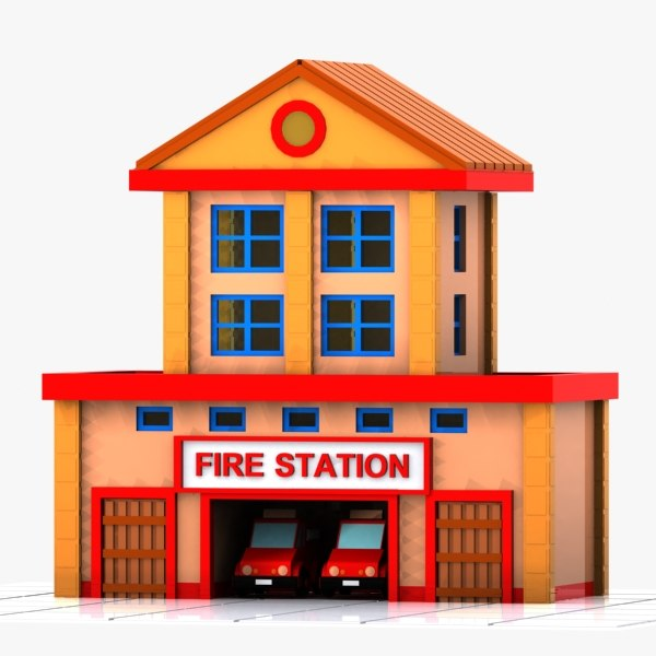 clip art of fire station - photo #49