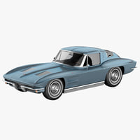 3ds max chevrolet corvette c2