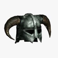 fantasy horned helmet 3d model