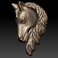 3ds max horse head relief