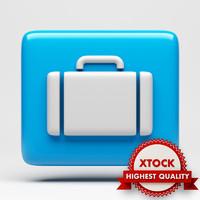 suitcase icon 3d model
