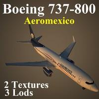 boeing 737-800 amx 3d model