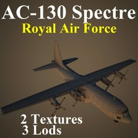 3d model ac-130 spectre raf