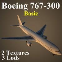 3d boeing 767-300 basic