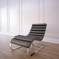 3d model of oviedo leather chaise