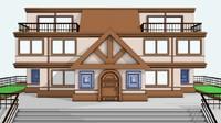 3d model of 3 story residence