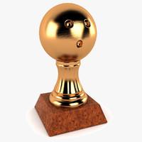 3d bowling ball trophy