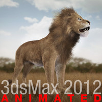 lion fur cat 3d max