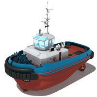3d model of tug boat