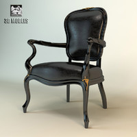 3d model of savio firmino armchair