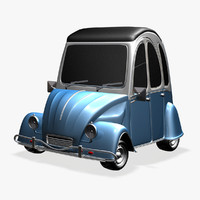 3d model citroen 3cv cartoon car