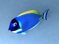 blue fish 3d max