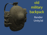 military backpack 3d model