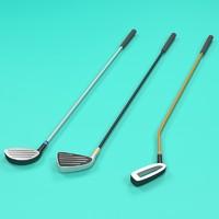 3d golf clubs model