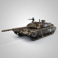 china ztz-99 tank 99 3d c4d