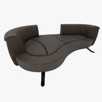 3d model unique sofa leather