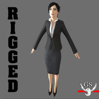 3ds max sexy rigged woman