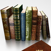 antique books 3d model