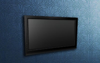 3d model of television wall tvset
