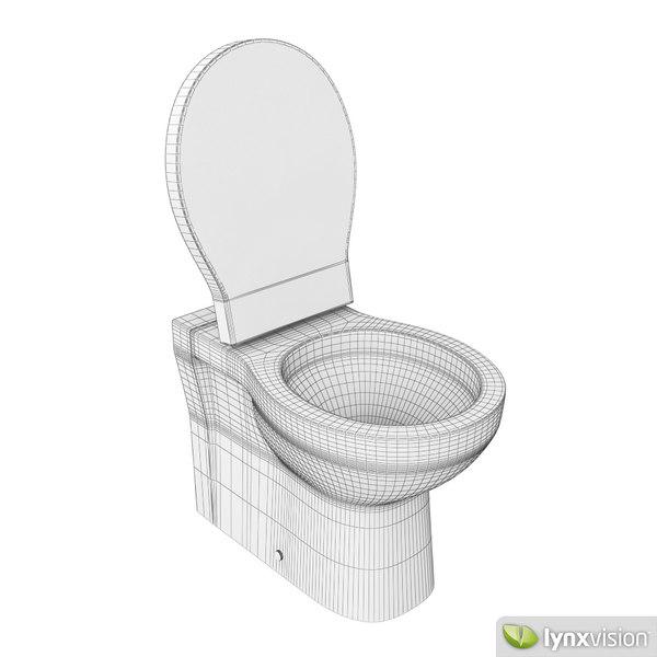 Toilet bidet duravit 3d model - Toilet model ...