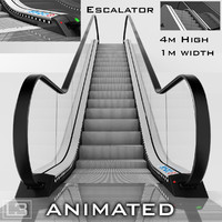 Escalator 4m high animated