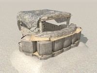 3d outpost military model