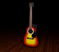 acoustic guitar - 3ds