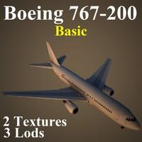 maya boeing 767-200 basic