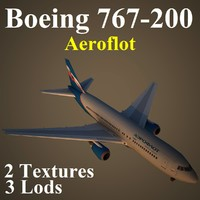 3ds max boeing 767-200 afl