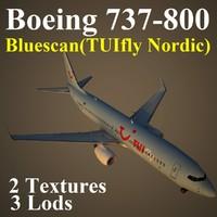 boeing 737-800 blx 3d max
