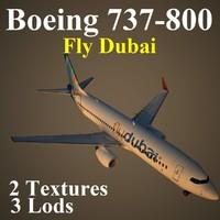 boeing 737-800 fdb 3d model