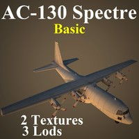 3d model ac-130 spectre basic