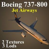 3d boeing 737-800 jai model