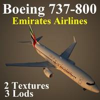 boeing 737-800 uae 3d model