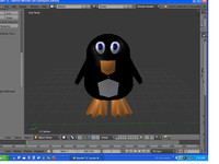 3d model of penguin