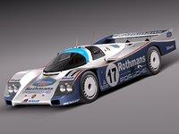 3d model car sport 1984 porsche