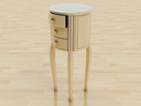 3d model chair drawer