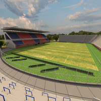pedro bidegain stadium 3d model