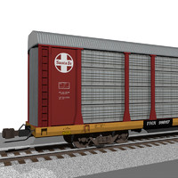 3d model of train car autorack
