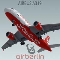 3d model airbus a319 airberlin