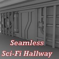 Sci-Fi wall - lowpoly