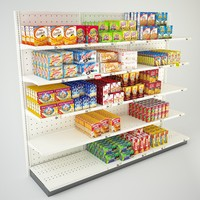 3d grocery store aisle