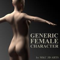 generic female character 3d model